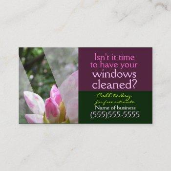 window cleaning business service customizable card