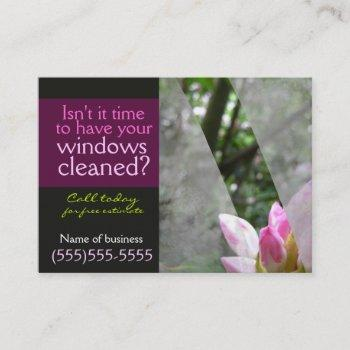 window cleaning businessl card template dark