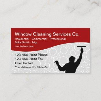 window cleaning professional services business card