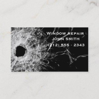 window repair businesses card