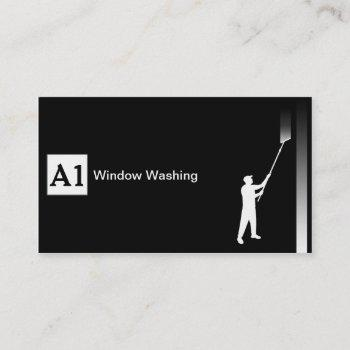 window washer business card