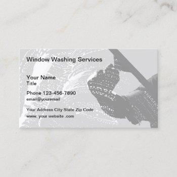 window washer cleaning service business card
