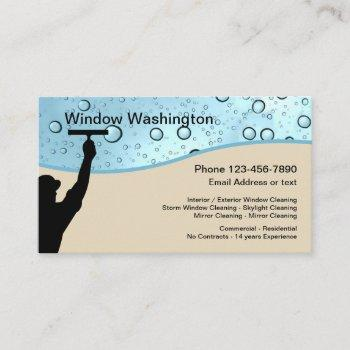 window washing and cleaning business card