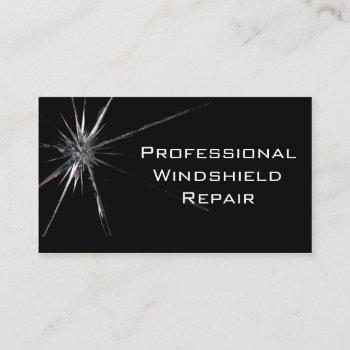 windshield repair business card