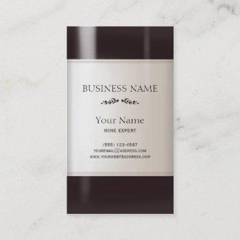 wine bottle label business card