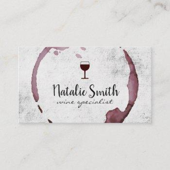 wine stain (wine glass) business card