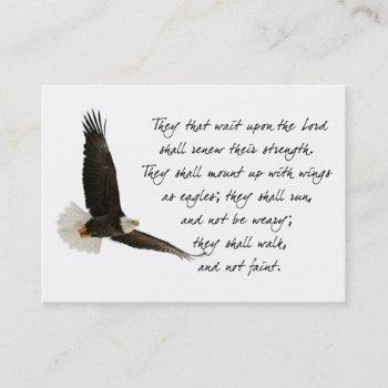 wings as eagles isaiah 40 inspirational custom business card