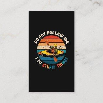 witty kayaker funny kayaking humor water sports business card