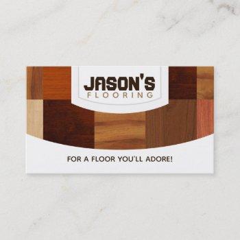 wood floors business cards