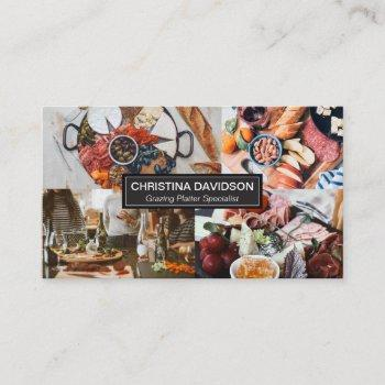 wood grazing platter photo showcase modern business card