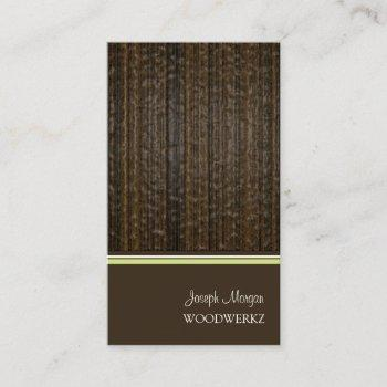 woodwork flooring/diy background color business card