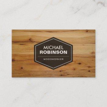 woodworker - modern wood grain look business card