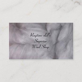 wool business card