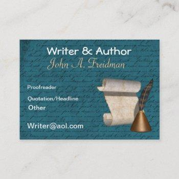 writer/author business card
