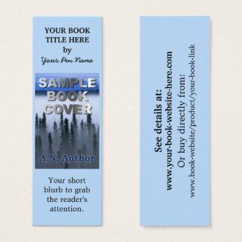 writer author promotion book cover small bookmark