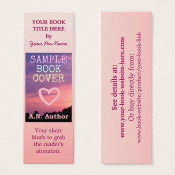 writer author promotion book cover small pink