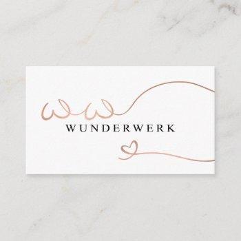 wunderwerk business card