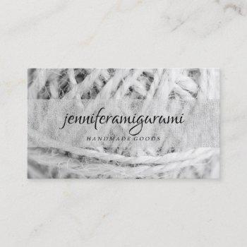 yarn knitting crochet amigurumi craft art business card