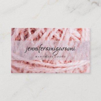 yarn knitting crochet handmade craft business card