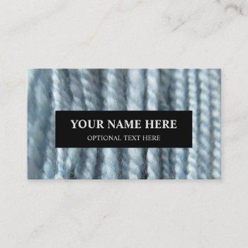 yarn knitting handspun pastel blue photograph business card