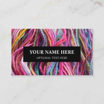 yarn knitting handspun texture pink photograph business card