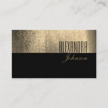 yellow gold and black simple elegant professional business card
