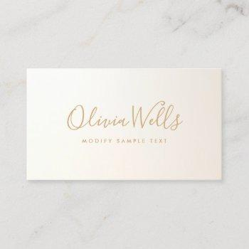 yellow gold  handwritten script social media icon business card