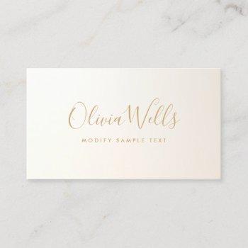 yellow gold  handwritten script social media icon business card