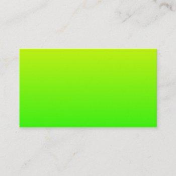yellow green gradient business card