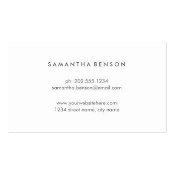 Small Yellow Lotus Flower   Floral Watercolor Business Card Back View
