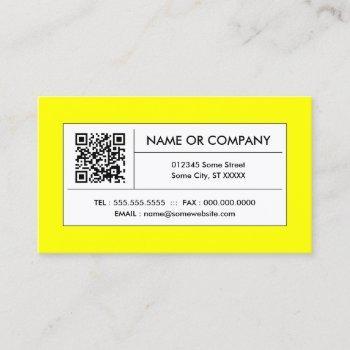 yellow qr code business card
