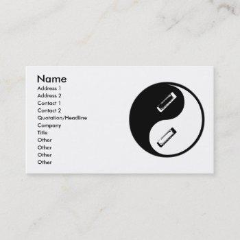 yin yang harmonica business card