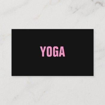 yoga instructor simple & plain business card
