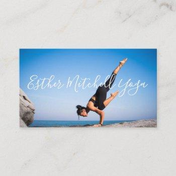 yoga instructor with photo professional business card