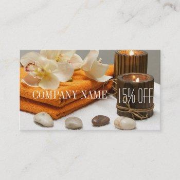 yoga zen aromatherapy skincare spa massage therapy business card