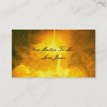 you matter to me,love jesus business card