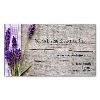 young living distributor business card magnet