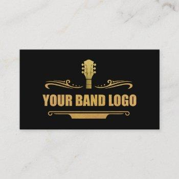 your band logo gold - black or pick color business card