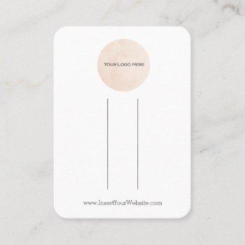 your logo bow hair clip display card vertical