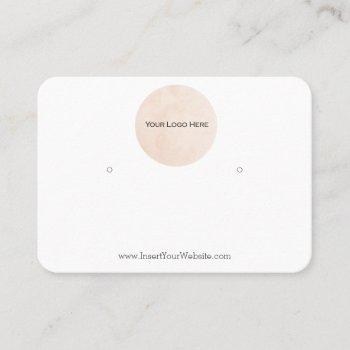 your logo earring display card large