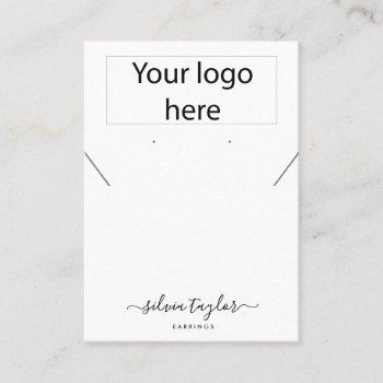 your logo jewellery necklace earring display card