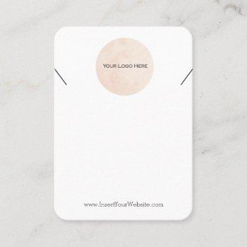 your logo necklace display card large vertical