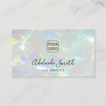your logo opal photo background business card