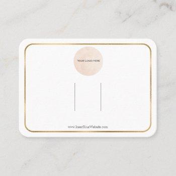your logo rainbow bow hair clip display horizontal business card