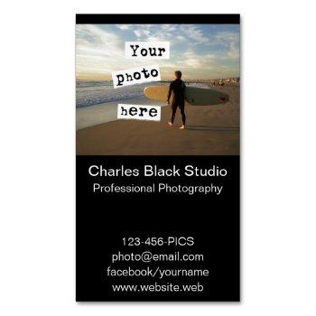 your photo simple black photography photograph magnetic business card