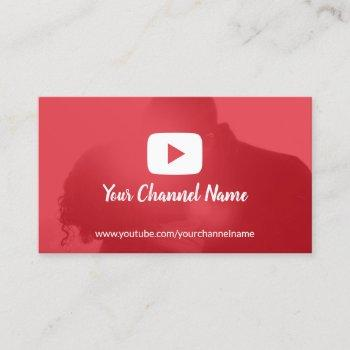 youtube channel custom photo youtuber business card