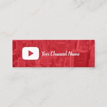 youtube channel custom photo youtuber mini business card