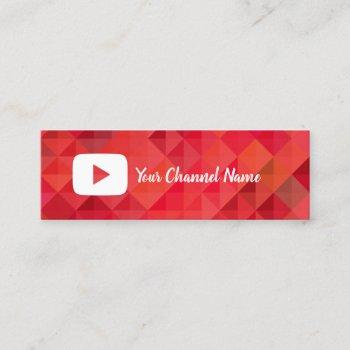 youtube channel youtuber social media mini business card