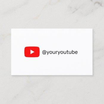 youtube social media modern trendy marketing calling card