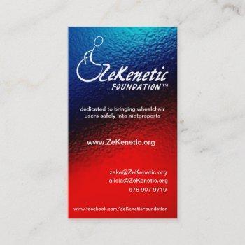 zekenetic foundation business cards